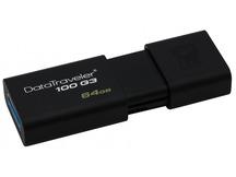 USB Flash atmiņa Kingston DataTraveler 100 G3, 64GB, Black