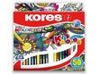 Krāsaini zīmuļi Kores Kolores Mandala 50 krāsas, 3-stūra
