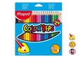 Krāsaini zīmuļi, Maped Color Peps, 24 krāsas, 3-stūra