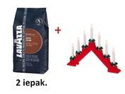 Kompl. Kafija, Lavazza, Espresso, Super Crema, 1kg x 2gab  dāvanā elektrisks svečturis