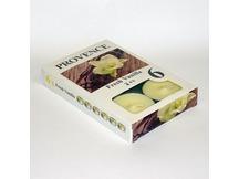 Tējas sveces, Provence, 6gab.,smaržīgas, vaniļa