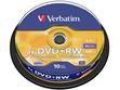 Kompaktdisks Verbatim, DVDRW, 4.7GB, 4x, SERL, bez vāciņa, 10 gab. iepakojumā